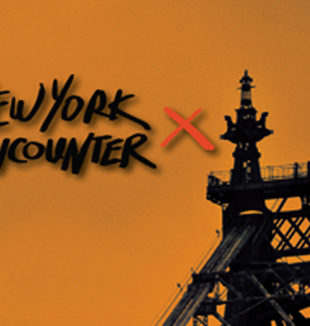 Un cartel del New York Encounter.